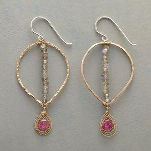 Pointedly Pink Loop Earrings by Sundance